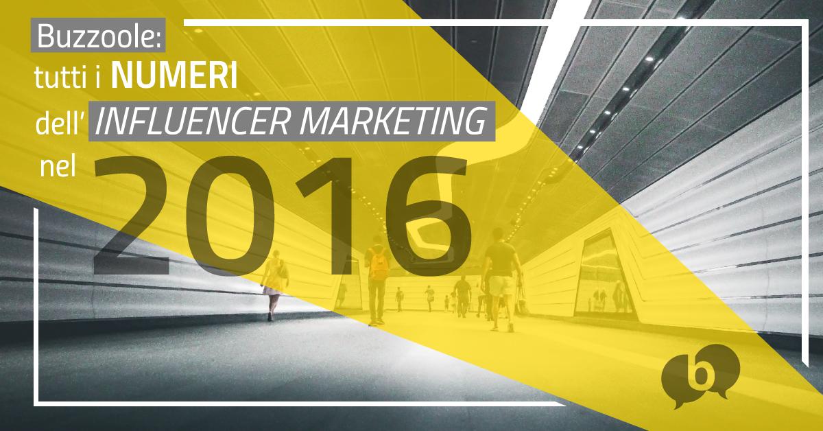 Buzzoole: tutti i numeri dell'Influencer Marketing nel 2016 e previsioni per il 2017 [Infografica]
