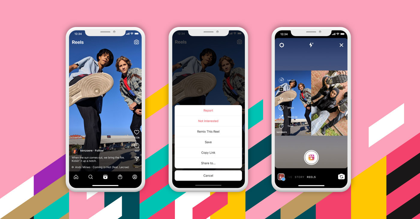 Instagram sfida TikTok: guida ai nuovi Remix di Reels